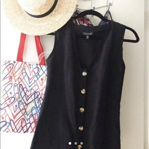 Black Topshop Button-Down Dress